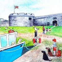 Rosie and Poppy visit Hurst Castle