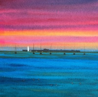 hurst_castle_sunset