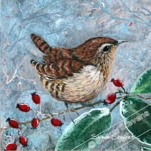 wren_and_winter_berries_coaster